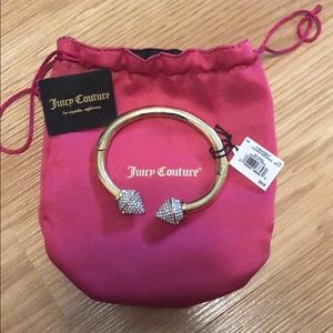 Juicy Couture Pave spike hinge bangle
